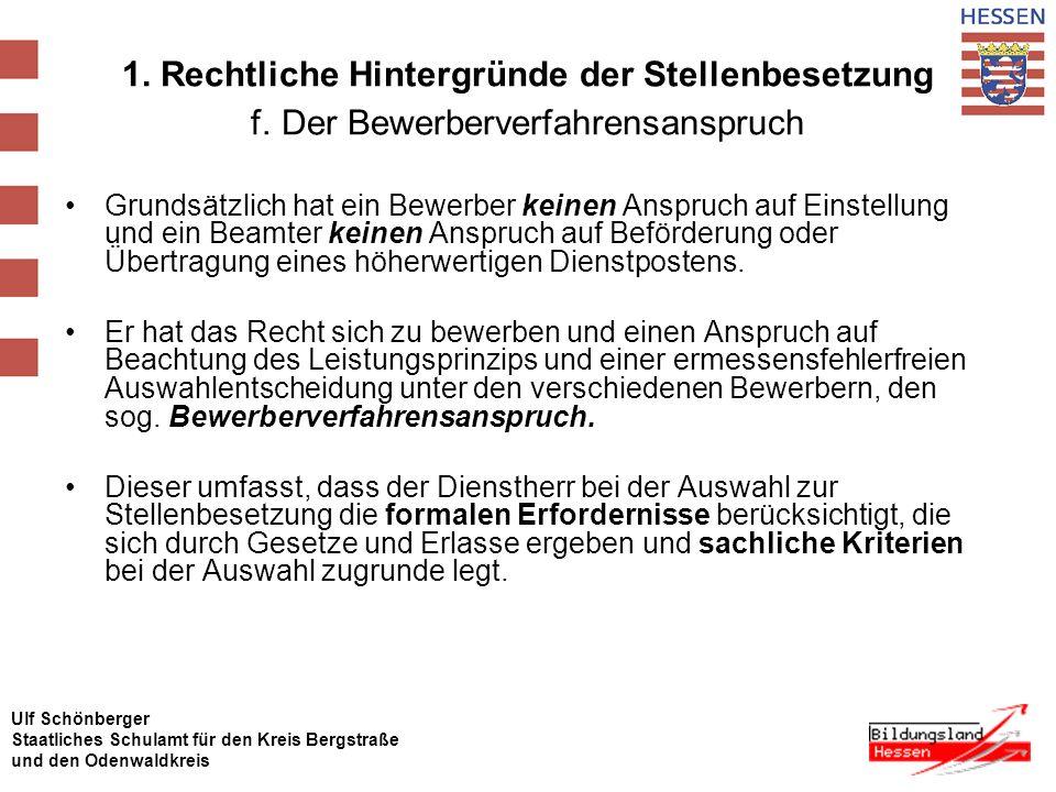 Ulf Schönberger Staatliches Schulamt für den Kreis Bergstraße und den Odenwaldkreis 1.