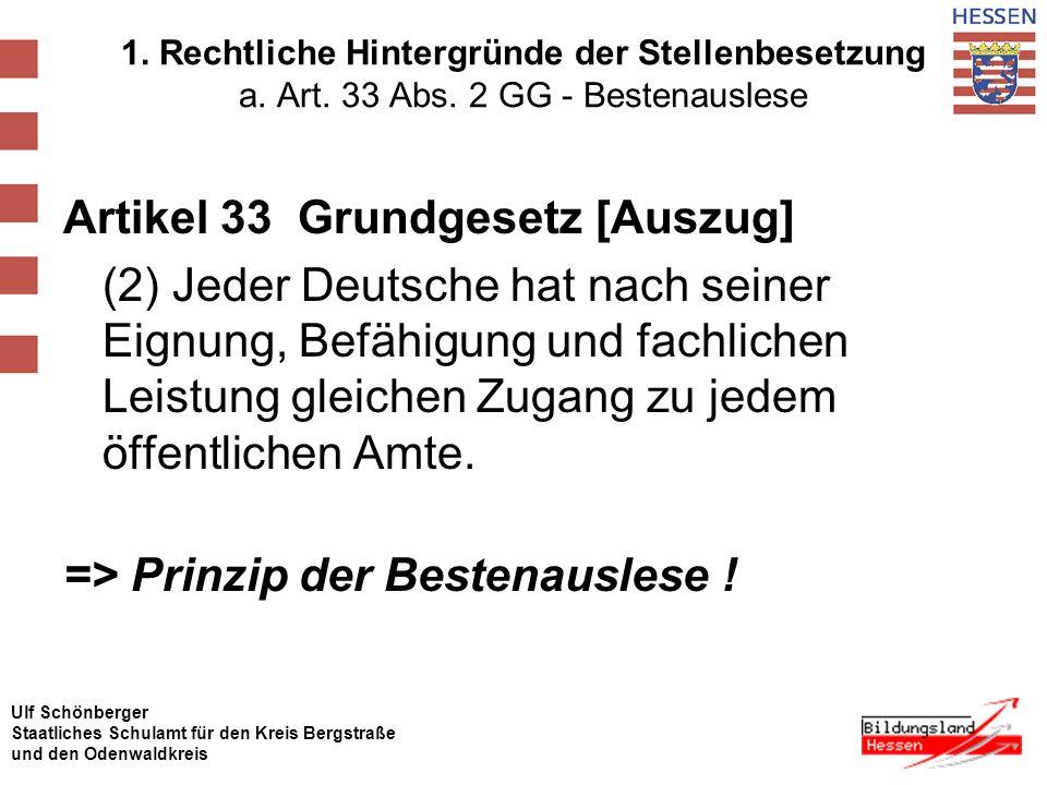 Ulf Schönberger Staatliches Schulamt für den Kreis Bergstraße und den Odenwaldkreis Einstellungsverfahren 2.