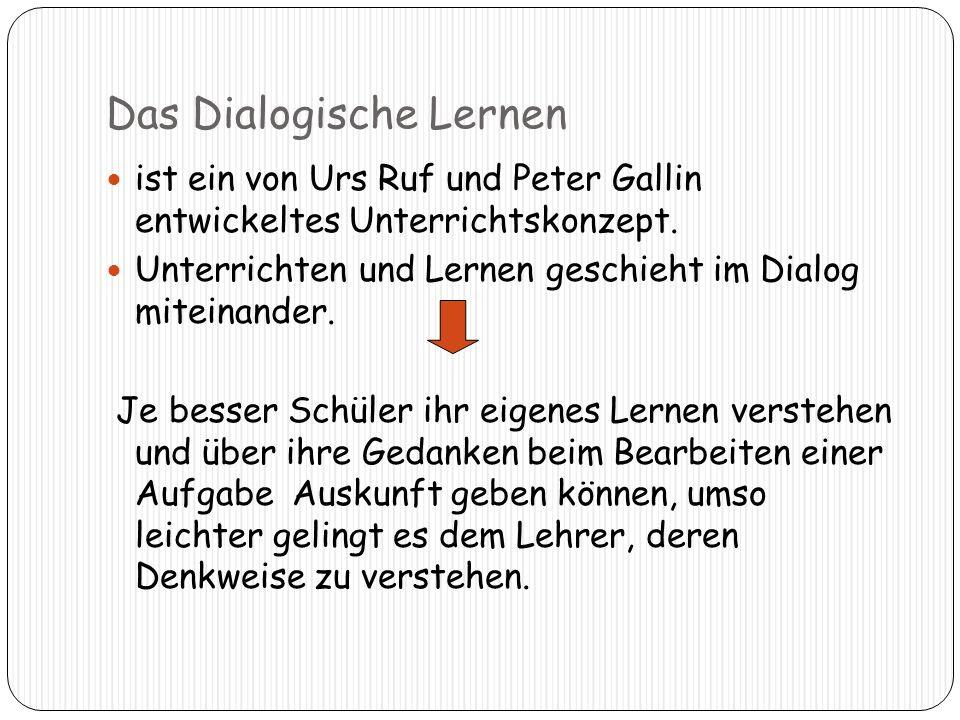 Das Dialogische Lernen ist ein von Urs Ruf und Peter Gallin entwickeltes Unterrichtskonzept.