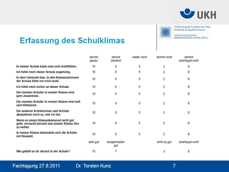 Fachtagung 27.8.2011 Dr. Torsten Kunz7