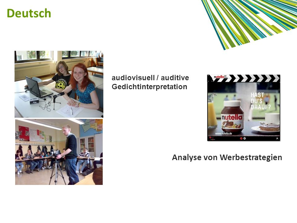 Deutsch Analyse von Werbestrategien audiovisuell / auditive Gedichtinterpretation