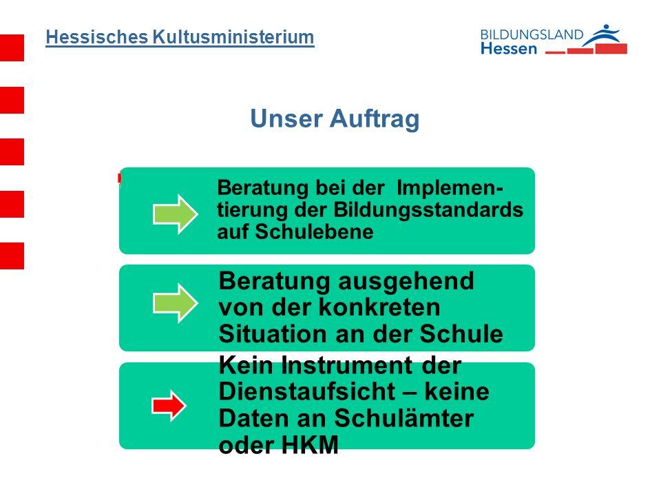 Hessisches Kultusministerium Implementierung von Kompetenzorientierung Kerncurriculum: Bildungsstandards u.