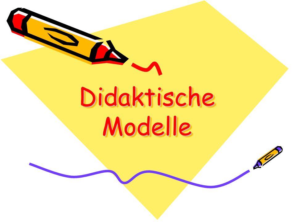 Bildungs- theoretische Didaktik Curriculare oder lernzielorientierte Didaktik Kybernetische oder informations- theoretische Didaktik Die 3 klassischen Modelle 1.2.3.