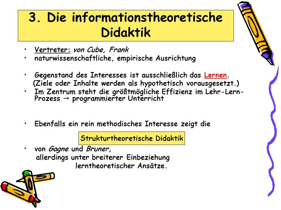 Vertreter: von Cube, Frank naturwissenschaftliche, empirische Ausrichtung Gegenstand des Interesses ist ausschließlich das Lernen.