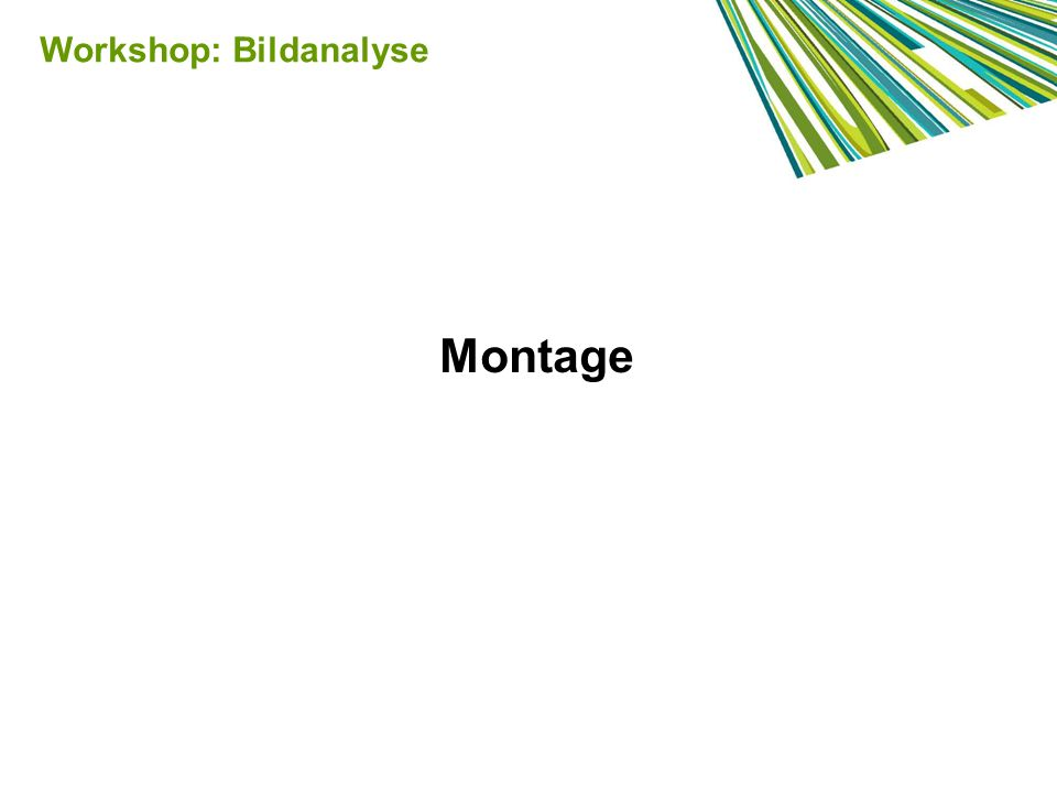 Montage Workshop: Bildanalyse