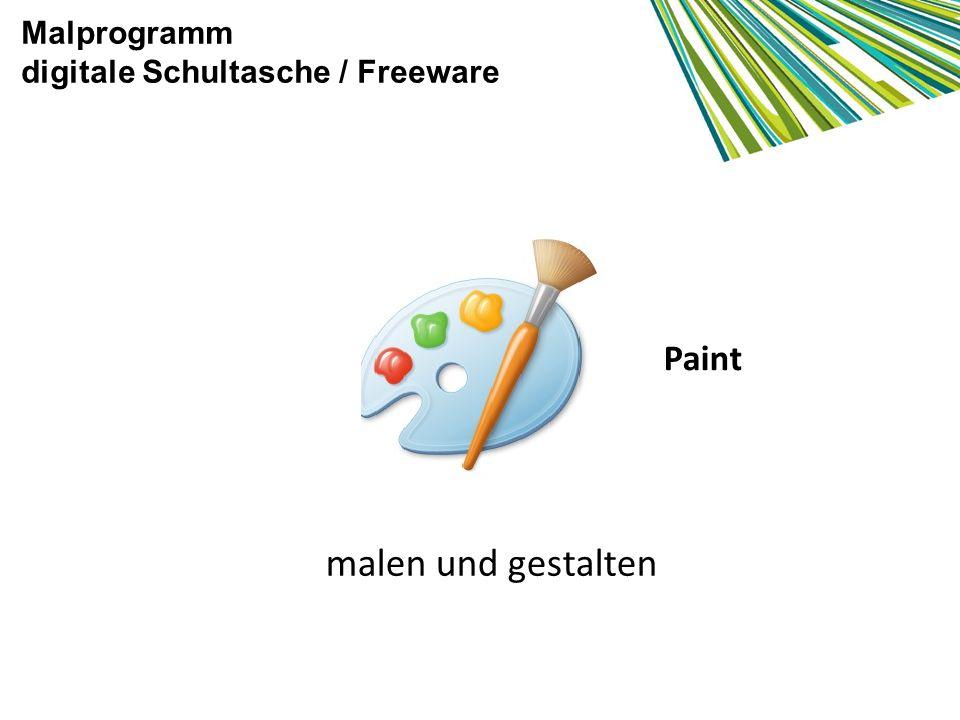 Malprogramm digitale Schultasche / Freeware Paint malen und gestalten