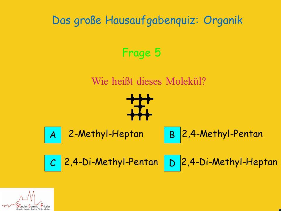 Das große Hausaufgabenquiz: Organik Isomere sind Stoffe mit gleicher Summenformel aber unterschiedlicher Strukturformel Isomere Richtig! Frage 5