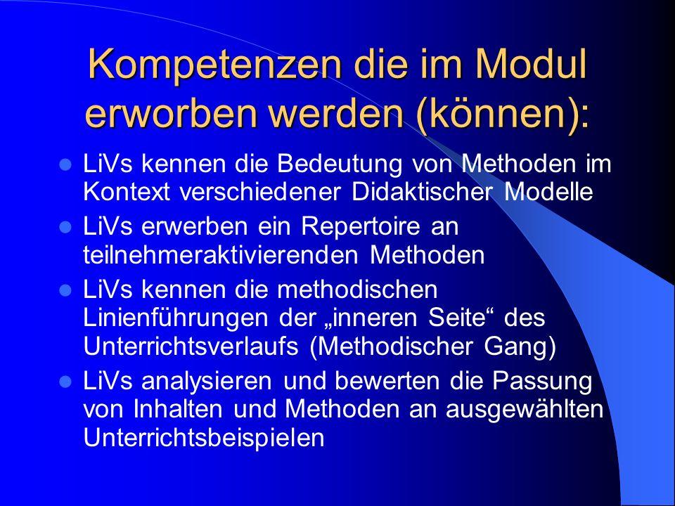 LiVs kennen mediendidaktische Konzepte und können mit deren Hilfe Unterricht planen/analysieren.
