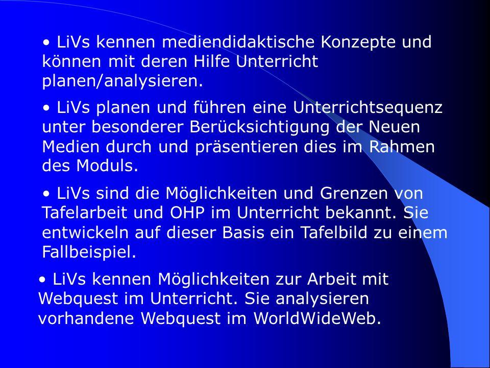 Leitgedanken zur (methodischen) Konzeption des Moduls: 1.