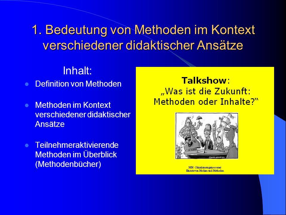 Talkshow: Was ist die Zukunft: Methoden oder Inhalte.
