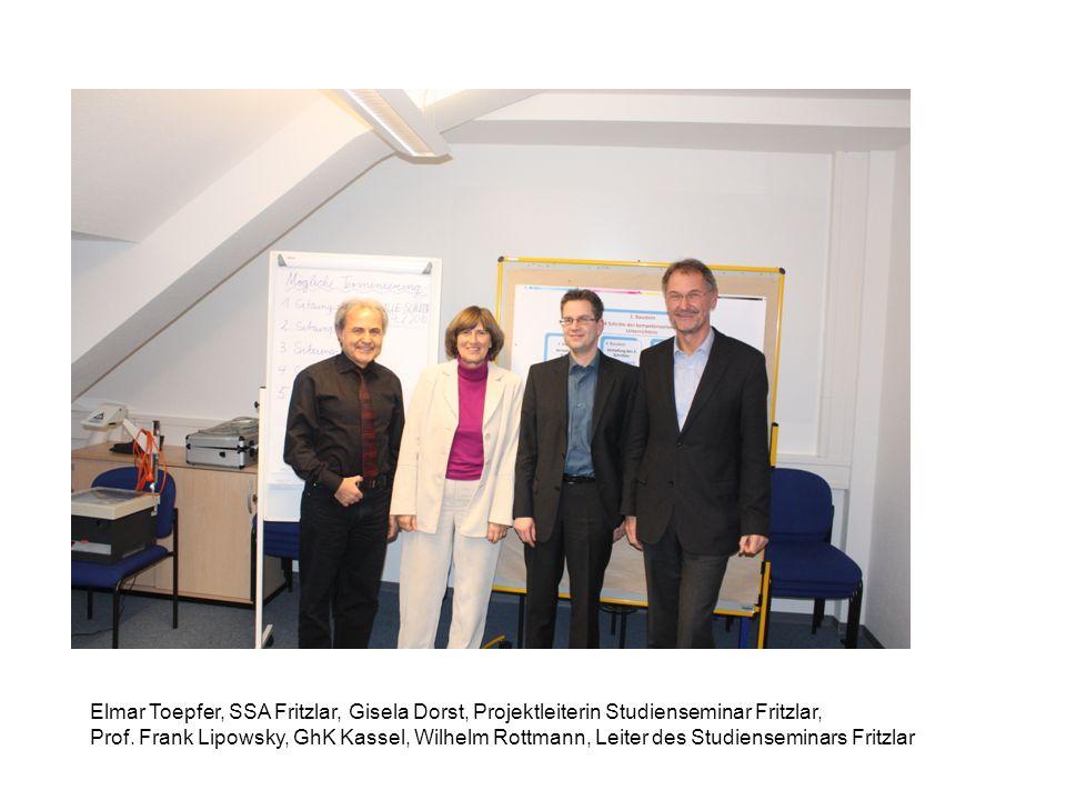 Elmar Toepfer, SSA Fritzlar, Gisela Dorst, Projektleiterin Studienseminar Fritzlar, Prof.
