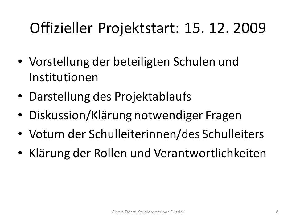 Offizieller Projektstart: 15.12.