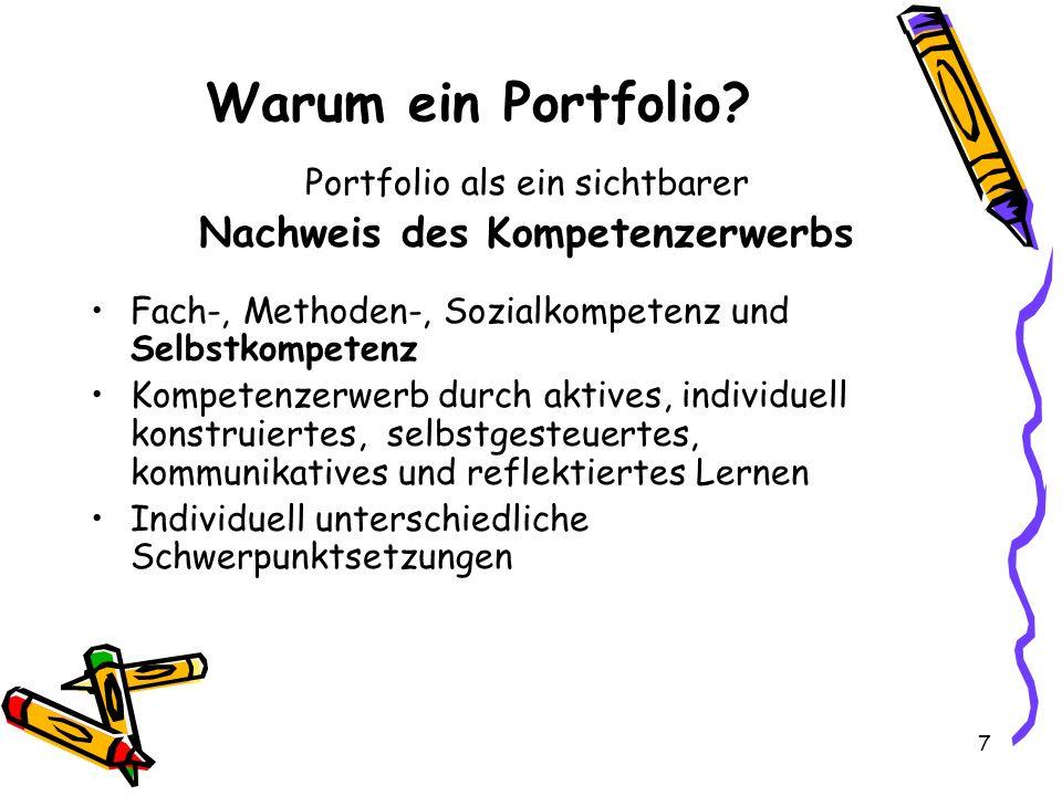 7 Warum ein Portfolio.