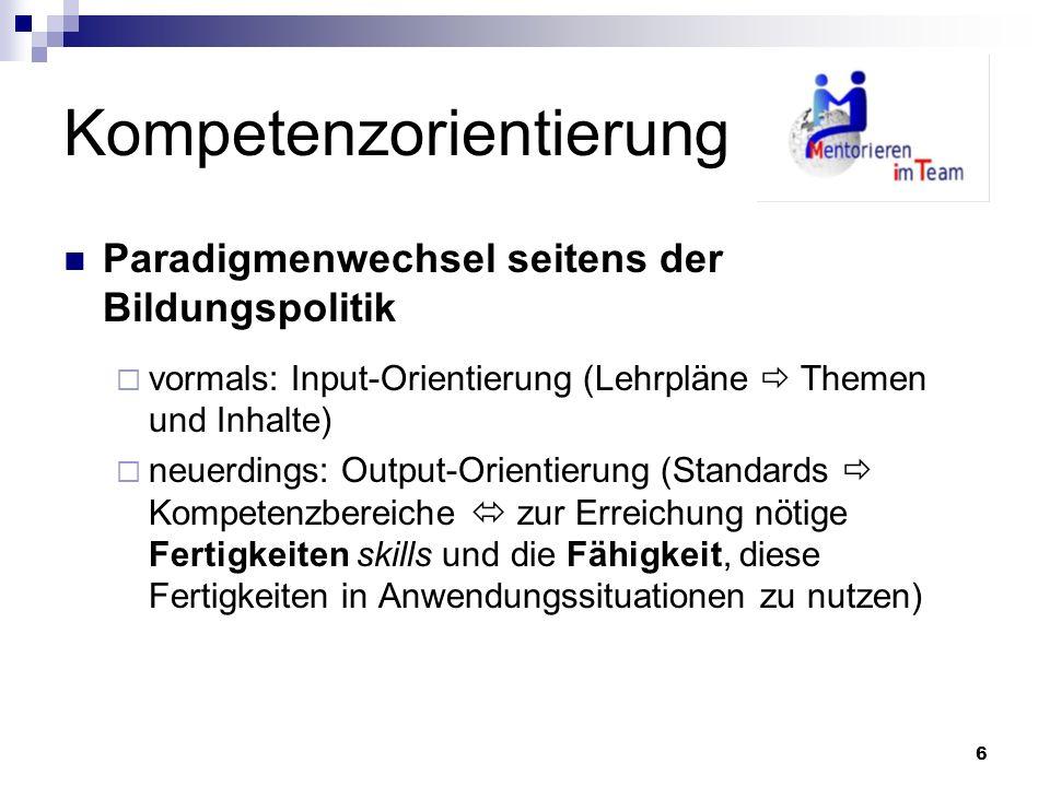 7 Erweiterter Standardbegriff nach Frank Haß (2008) Input - Standards Prozess - Standards Output- Standards