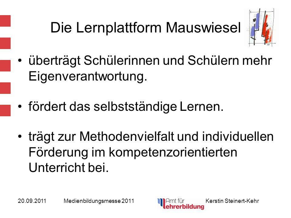 20.09.2011Medienbildungsmesse 2011 Kerstin Steinert-Kehr nutzt das Interesse an neuen Medien positiv zum Lernen.
