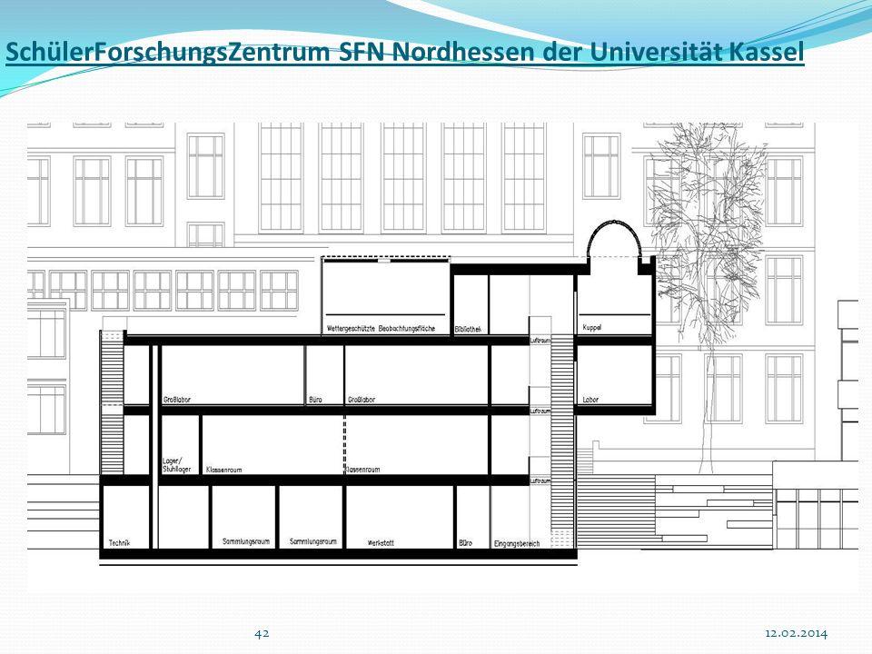 4212.02.2014 SchülerForschungsZentrum SFN Nordhessen der Universität Kassel