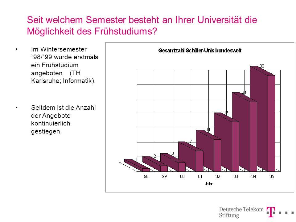 Vorbemerkung Im Rahmen der Erhebung wurden die Fragebögen bundesweit an insgesamt 71 Hochschulen verschickt.