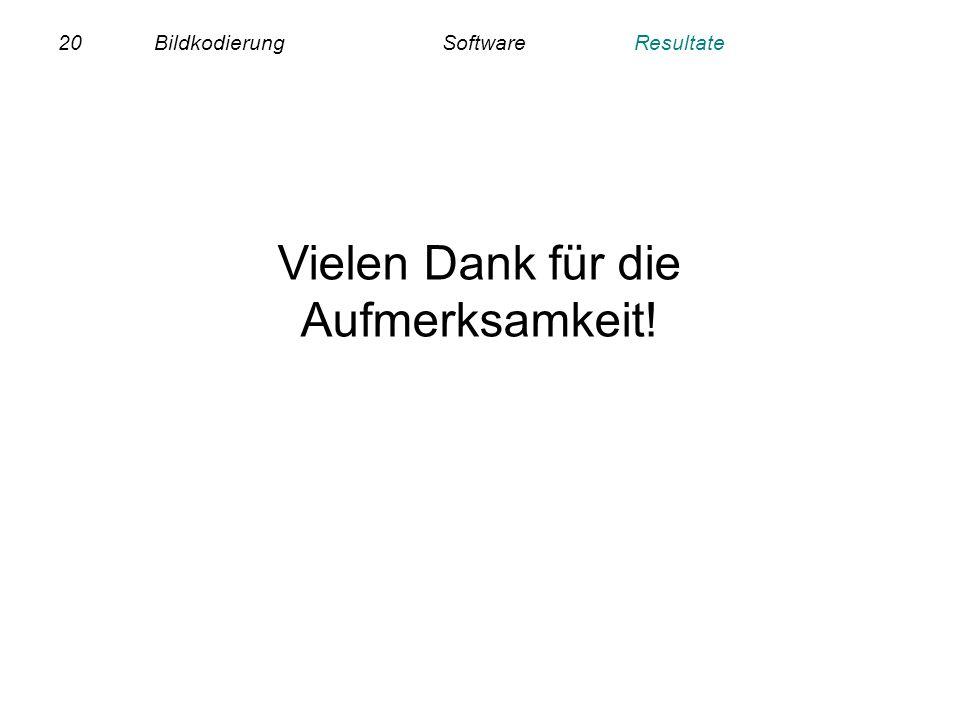 20BildkodierungSoftwareResultate Vielen Dank für die Aufmerksamkeit!
