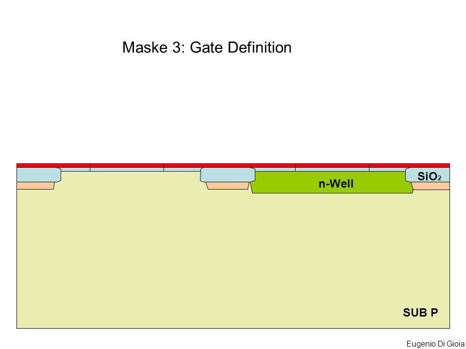 Eugenio Di Gioia SUB P n-Well SiO 2 Maske 3: Gate Definition