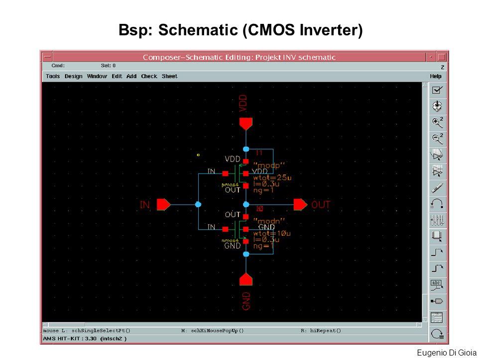 Eugenio Di Gioia Bsp: Schematic (CMOS Inverter)