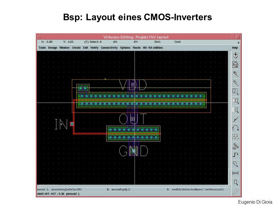 Eugenio Di Gioia Bsp: Layout eines CMOS-Inverters