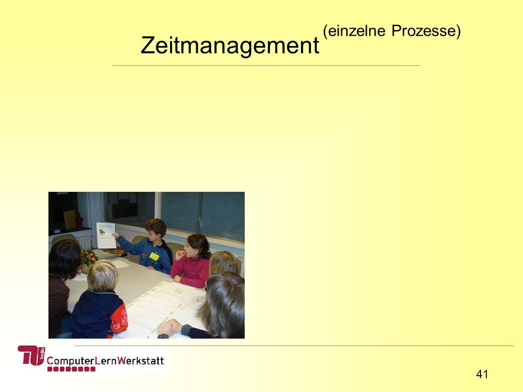 41 Zeitmanagement (einzelne Prozesse)