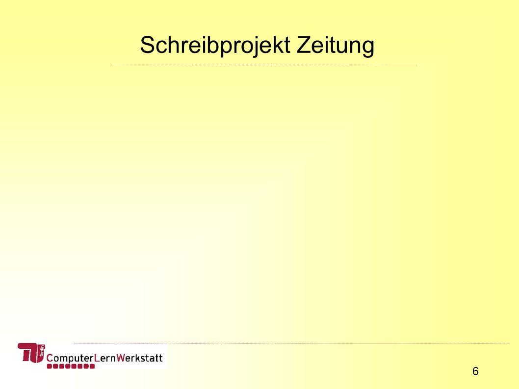 27 unsere Vorgaben: Werkzeuge (Schreib-, Bastelmaterial, Computer) Recherche (Projektverlauf)