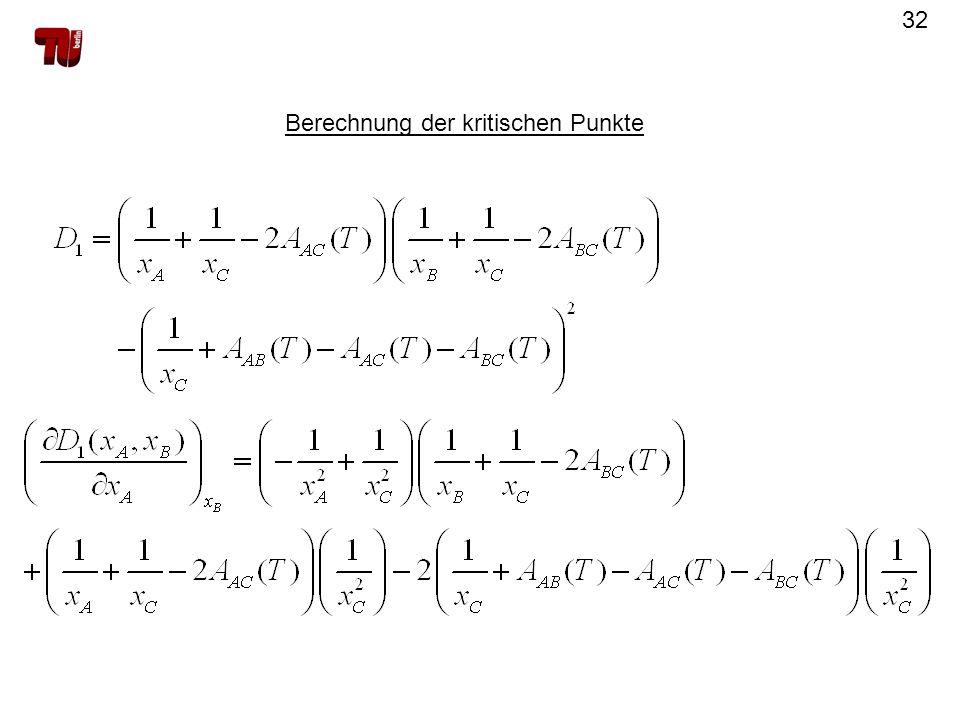 32 Berechnung der kritischen Punkte