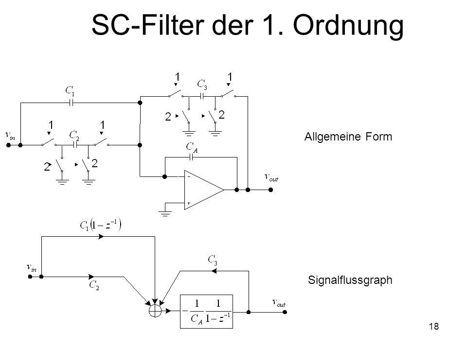 18 SC-Filter der 1. Ordnung Allgemeine Form Signalflussgraph