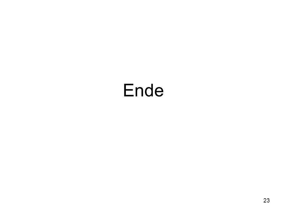 23 Ende
