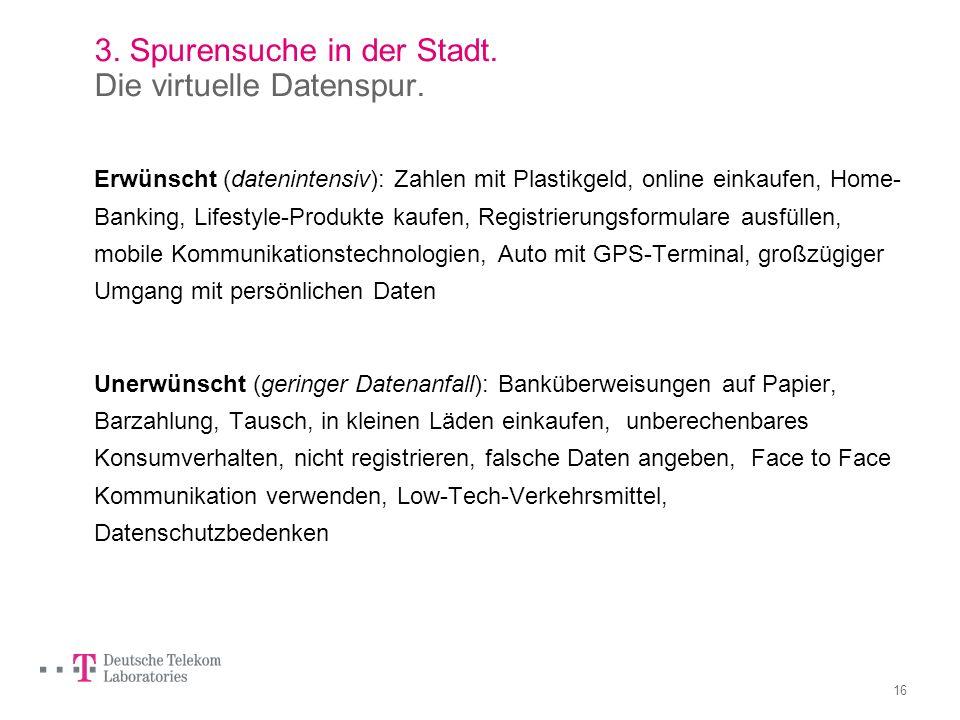 15 3. Spurensuche in der Stadt. Die virtuelle Datenspur.