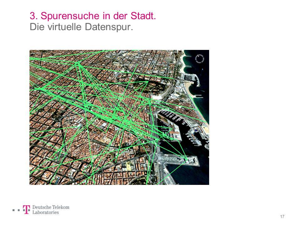 16 3. Spurensuche in der Stadt. Die virtuelle Datenspur. Erwünscht (datenintensiv): Zahlen mit Plastikgeld, online einkaufen, Home- Banking, Lifestyle