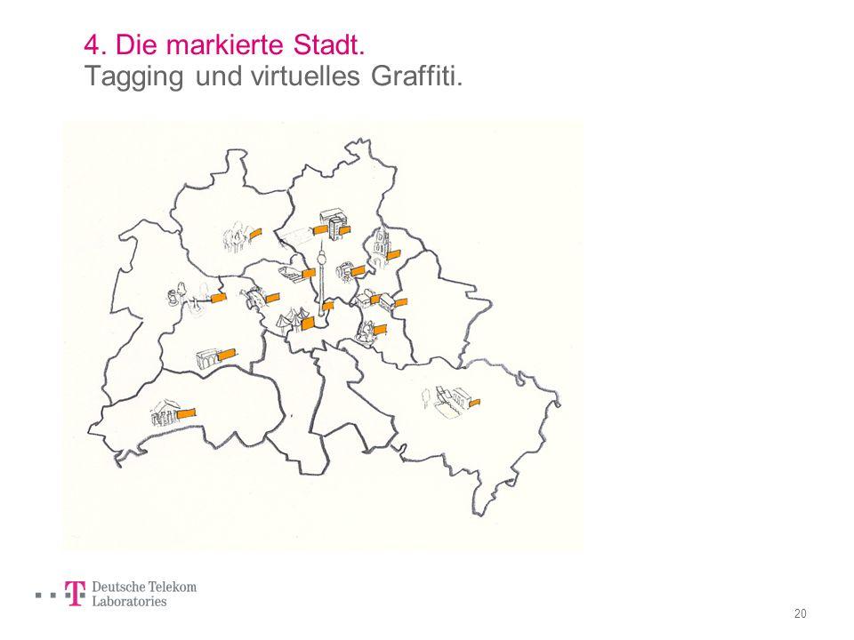 19 3. Spurensuche in der Stadt. Die Datengeografie. Dieser Stadtplan ist netzbasiert und individuell. Mit den Daten können individuelle Wege und genau