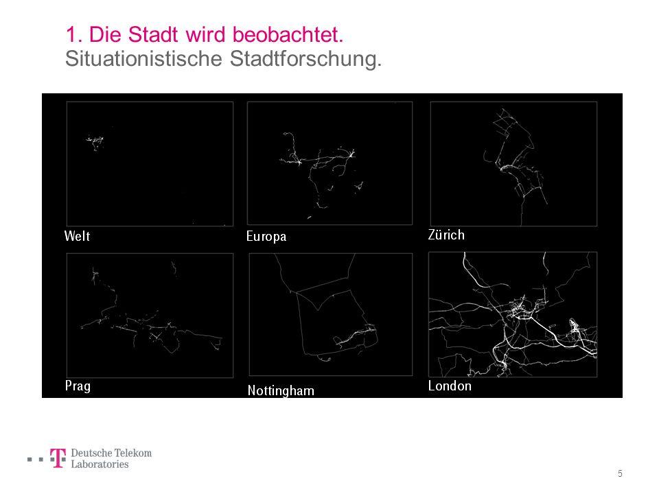 4 1. Die Stadt wird beobachtet. Situationistische Stadtforschung. Daniel Belasco Rogers, The daily practice of map making, 2003 – 2006, Berlin