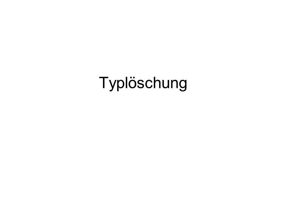 Typlöschung