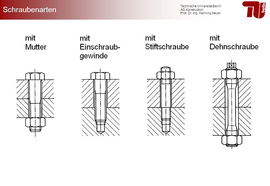 Technische Universität Berlin AG Konstruktion Prof. Dr.-Ing. Henning Meyer Schraubenarten
