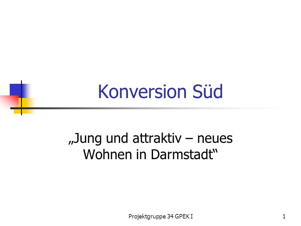 Projektgruppe 34 GPEK I1 Konversion Süd Jung und attraktiv – neues Wohnen in Darmstadt