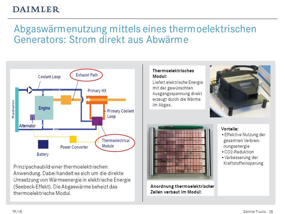 Daimler Trucks TP/VE29 Abgaswärmenutzung durch Verdampfung eines Arbeitsmediums in einem thermodynamischen Kreisprozess.