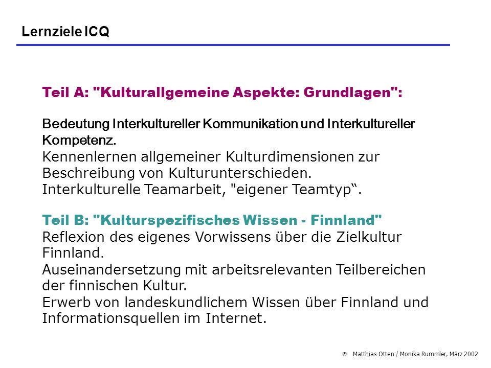 Matthias Otten / Monika Rummler, März 2002 Teil A: