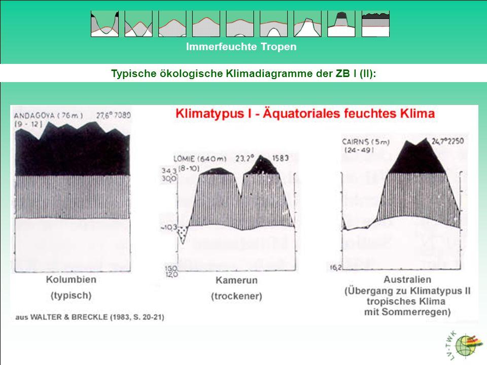 Immerfeuchte Tropen Mangroven 2-1 Verbreitung der Mangroven im Bereich der humiden und ariden Tropen In den humiden Tropen nimmt der Salzgehalt landeinwärts kontinuierlich - durch Auswaschung - ab.