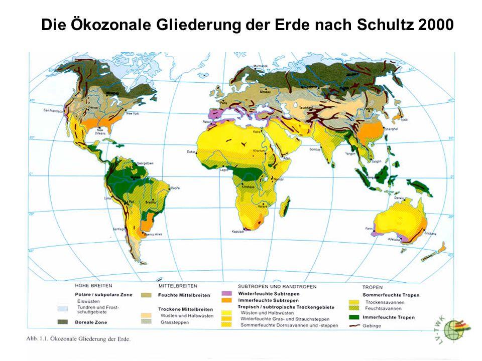 Die Ökozonale Gliederung der Erde nach Schultz 2000
