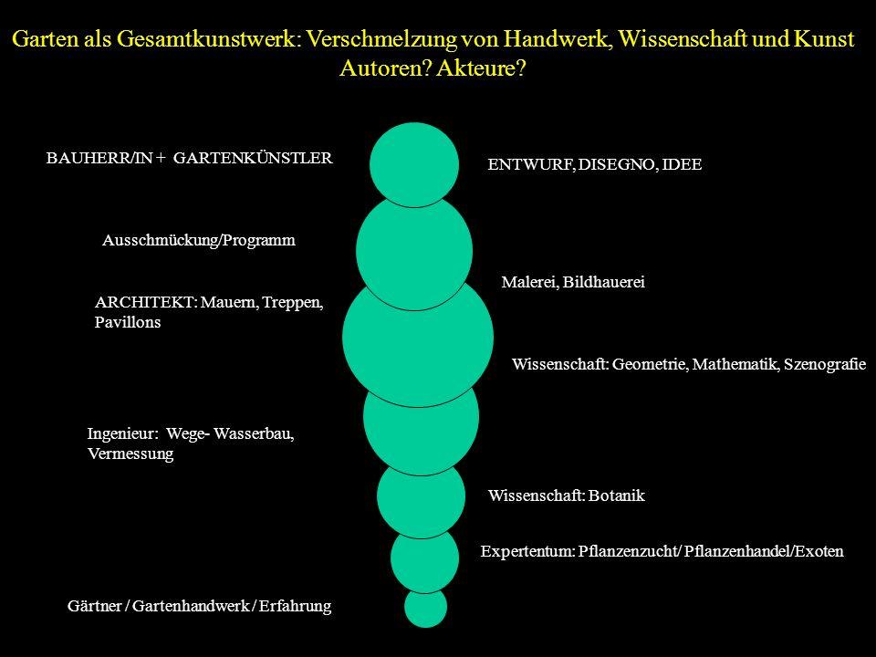 Gärtner / Gartenhandwerk / Erfahrung Expertentum: Pflanzenzucht/ Pflanzenhandel/Exoten Ingenieur: Wege- Wasserbau, Vermessung Wissenschaft: Botanik AR