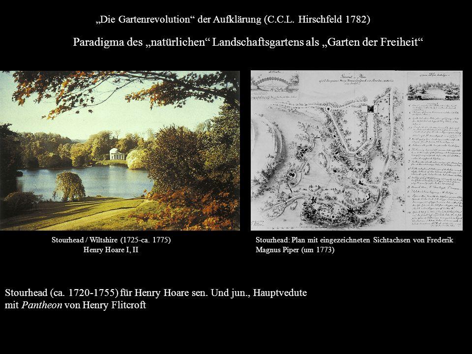 Stourhead (ca. 1720-1755) für Henry Hoare sen. Und jun., Hauptvedute mit Pantheon von Henry Flitcroft Stourhead / Wiltshire (1725-ca. 1775) Henry Hoar