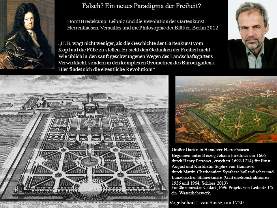 Großer Garten in Hannover-Herrenhausen Begonnen unter Herzog Johann Friedrich um 1666 durch Henry Perronet, erweitert 1692-1714) für Ernst August und