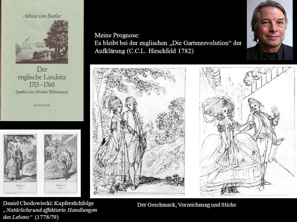 Daniel Chodowiecki: Kupferstichfolge Natürliche und affektierte Handlungen des Lebens (1778/79) Der Geschmack, Vorzeichnung und Stiche Meine Prognose:
