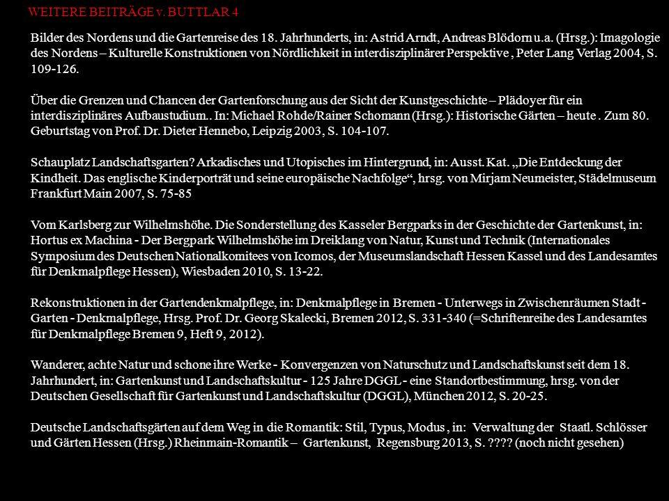 Bilder des Nordens und die Gartenreise des 18. Jahrhunderts, in: Astrid Arndt, Andreas Blödorn u.a. (Hrsg.): Imagologie des Nordens – Kulturelle Konst