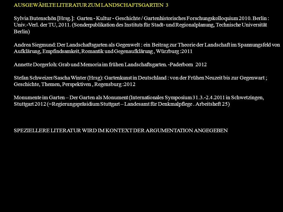 Sylvia Butenschön [Hrsg.]: Garten - Kultur - Geschichte / Gartenhistorisches Forschungskolloquium 2010. Berlin : Univ.-Verl. der TU, 2011. (Sonderpubl
