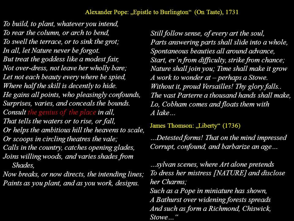 Lancelot [Capability] Brown (1716-1783) Brown (1716-1783), Portrait von Richard Cosway Parkplan für Lowther / Westmoreland (um 1763) Improvement, Clumps und Solitäre wie Punkt, Komma und Semikolon, Räume wie Gedankenstriche...