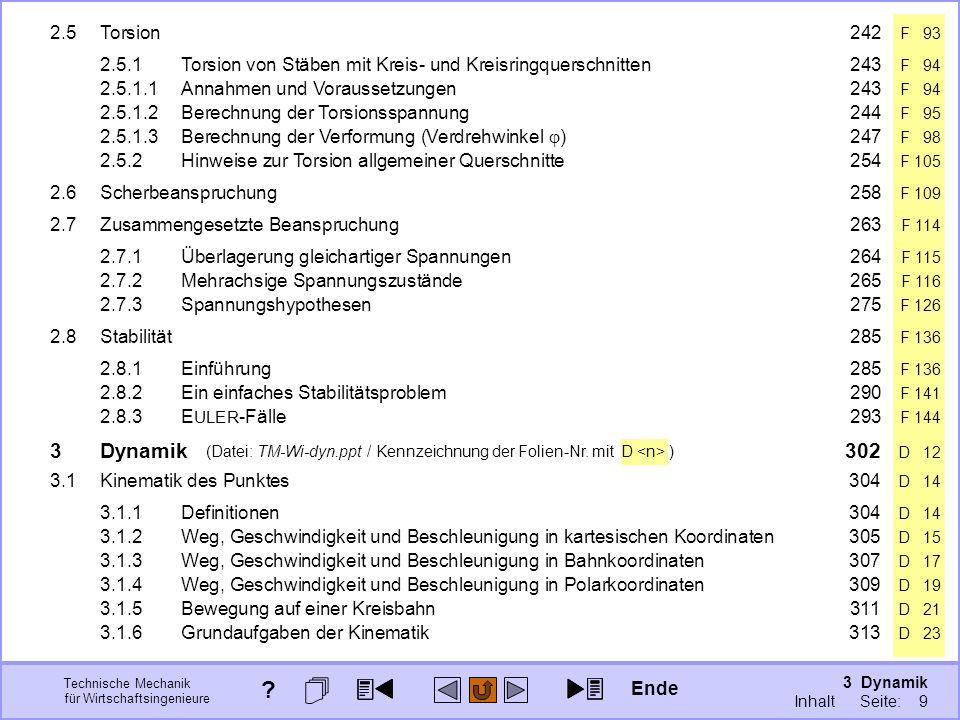 3 Dynamik Seite: 299 Technische Mechanik für Wirtschaftsingenieure (Datei: TM-Wi-dyn.ppt / Kennzeichnung der Folien-Nr.