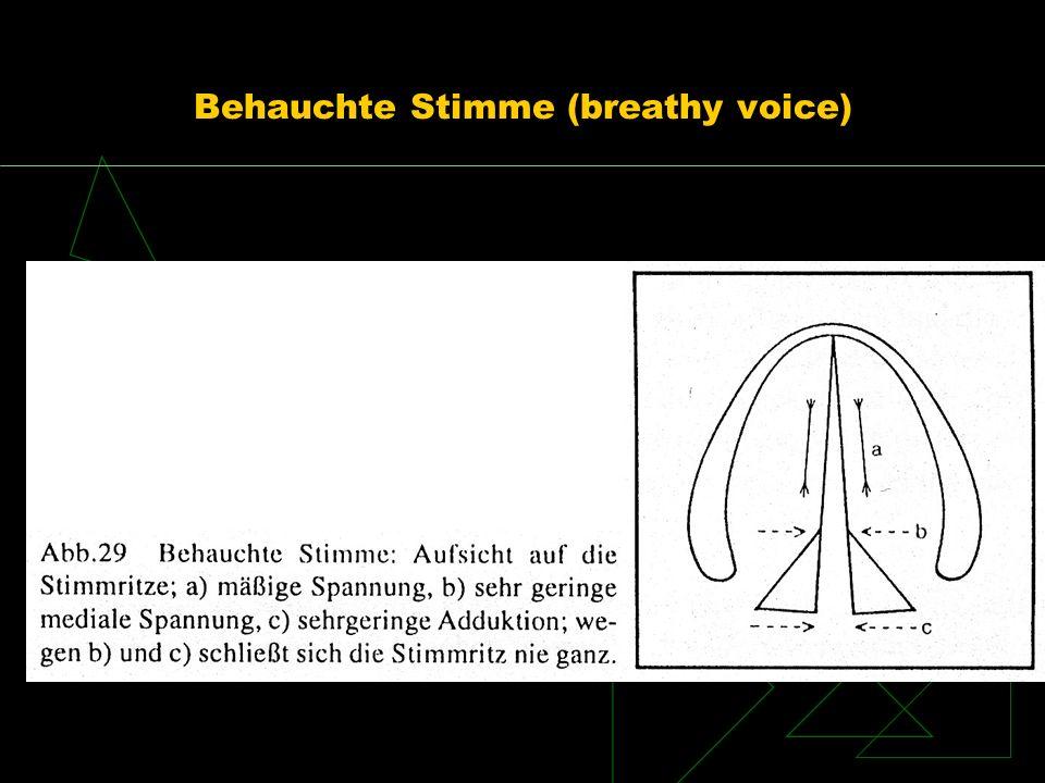 Behauchte Stimme (breathy voice)